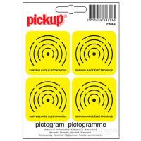 Sticker elektronisch beveiligd 4x
